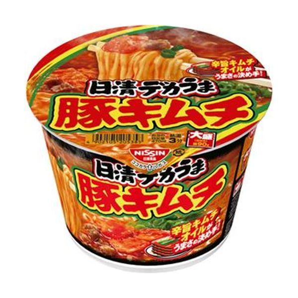 【送料無料】(まとめ)日清食品 日清デカうま 豚キムチ 1ケース(12食)【×10セット】