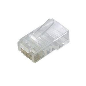 エレコム ツメの折れないLANコネクタカテゴリー5E 単線用 LD-RJ45T100/T 1箱(100個)