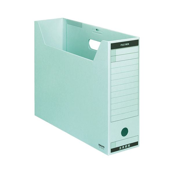 【送料無料】(まとめ) コクヨ ファイルボックス-FS(Bタイプ) B4ヨコ 背幅102mm 青 フタ付 B4-LFBN-B 1パック(5冊) 【×5セット】