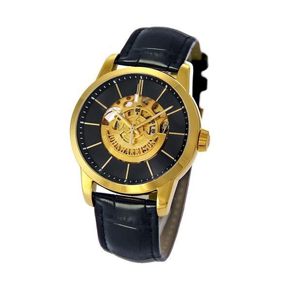 【送料無料】J.HARRISON フロントローター 自動巻き スケルトン時計 ゴールド JH-1946GB