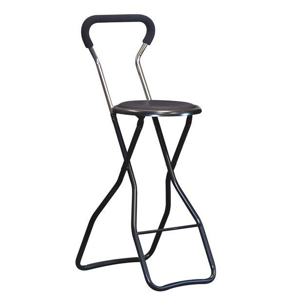 【送料無料】折りたたみ椅子 【4脚セット ブラック×ブラック】 幅35cm 日本製 スチールパイプ 『ソニックチェア ハイ』【代引不可】
