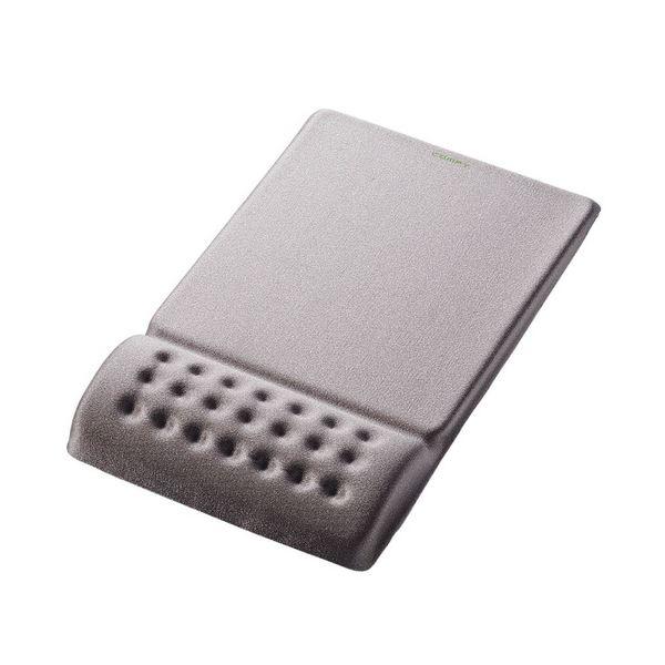 (まとめ) エレコム COMFY マウスパッドグレー MP-095GY 1枚 【×10セット】