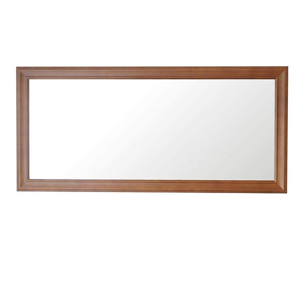 クラスウォールミラー W49×107cm 長方形壁掛け ライトブラウン