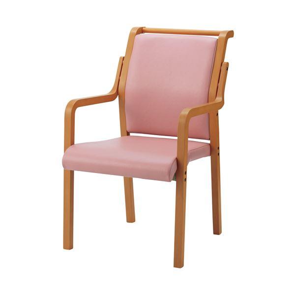 【送料無料】ジョインテックス 会議イス WF-C8AL ピンク 木製