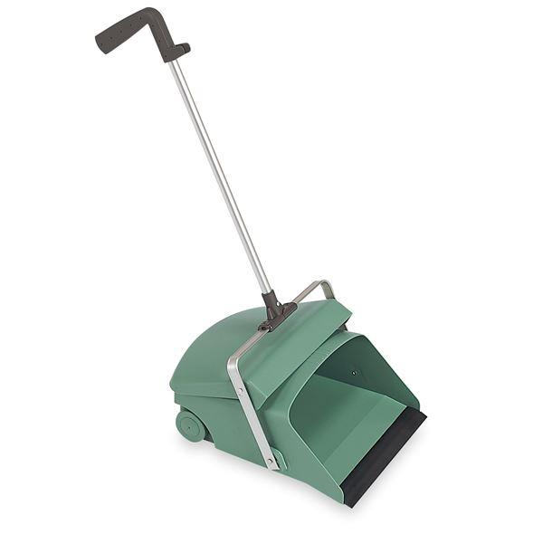 (まとめ) デカチリトリ/掃除用品 【グリーン】 1本柄 大容量 車輪付き 〔業務用 施設 店舗〕 【×3セット】