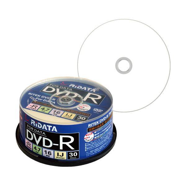 【送料無料】(まとめ) RiDATA データ用DVD-R4.7GB 1-16倍速 ホワイトワイドプリンタブル スピンドルケース D-R16X47G.PW30SP B1パック(30枚) 【×10セット】