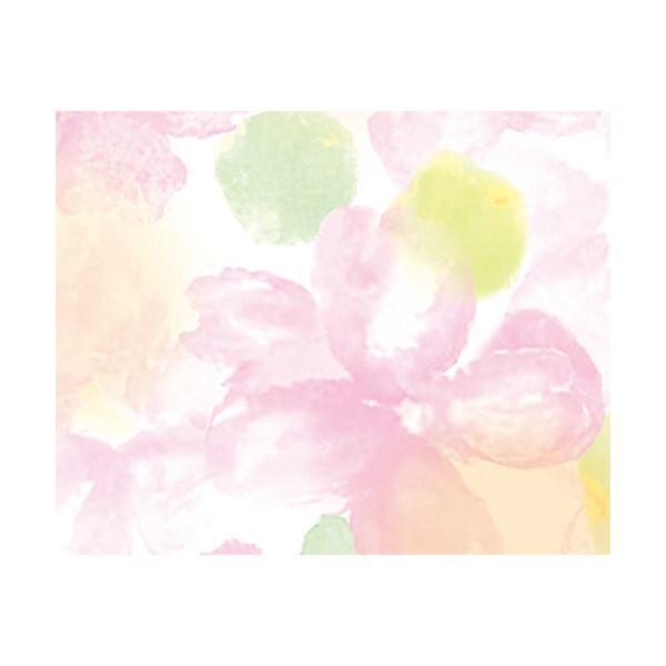 (まとめ) ササガワ 包装紙 アモール 半才判49-1502 1パック(50枚) 【×5セット】
