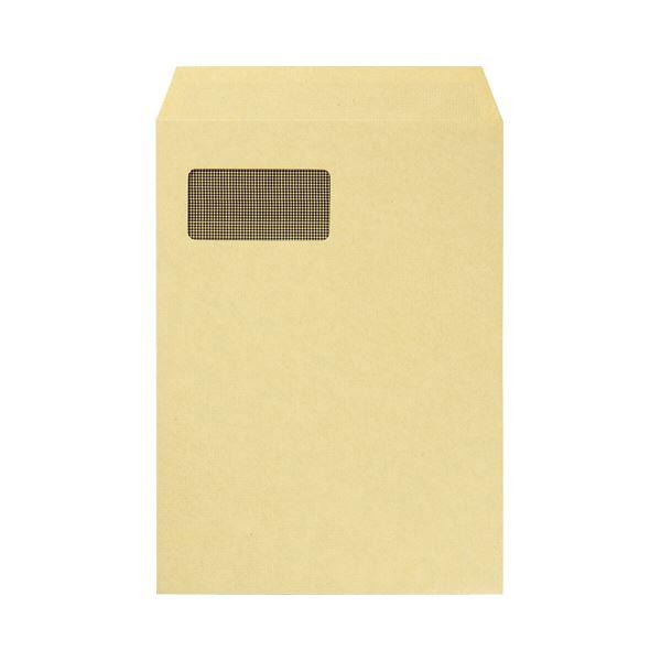 (まとめ) TANOSEE 窓付クラフト封筒 A4 裏地紋付 85g/m2 1パック(100枚) 【×5セット】