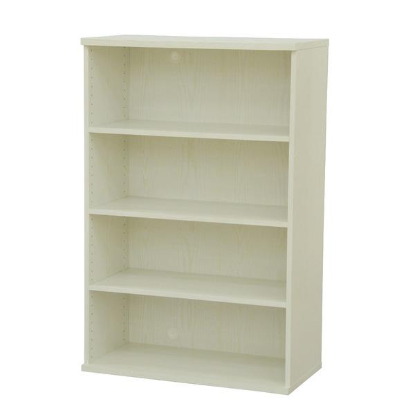 カラーボックス(収納棚/カスタマイズ家具) 4段 幅78.9×高さ120.3cm セレクト1280WH ホワイト【代引不可】