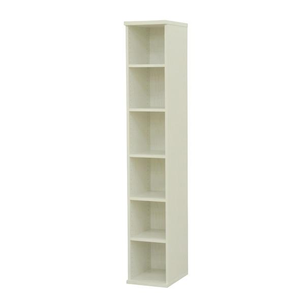 カラーボックス(収納棚/カスタマイズ家具) 6段 幅30×高さ177.9cm セレクト1830WH ホワイト【代引不可】