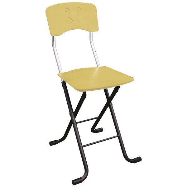 【送料無料】折りたたみ椅子 【2脚セット ナチュラル×ブラック】 幅40cm 日本製 スチールパイプ 『レイラチェア』【代引不可】