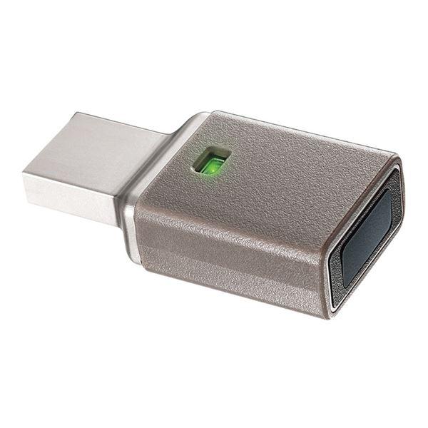 【送料無料】指紋認証センサー付き セキュリティUSBメモリー 64GB