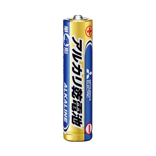 (まとめ) 三菱電機 アルカリ乾電池 単4形LR03N/4S 1セット(40本:4本×10パック) 【×10セット】