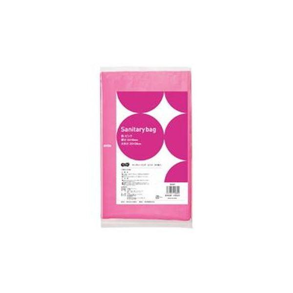 【送料無料】(まとめ)TANOSEE サニタリーバッグ ピンク 1パック(50枚)【×50セット】