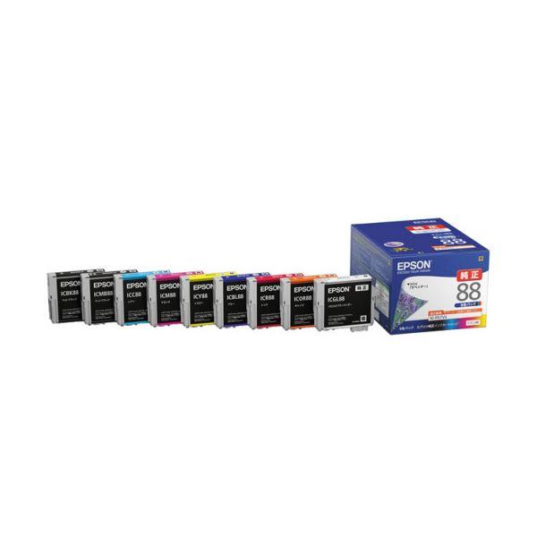 【送料無料】(まとめ)エプソン インクカートリッジ 9色パックIC9CL88 1箱(9個:各色1個)【×3セット】