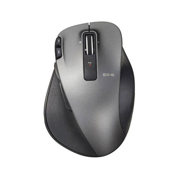 (まとめ)エレコム EX-G UltimateLaserマウス Lサイズ ブラック M-XGL20DLBK 1個【×3セット】