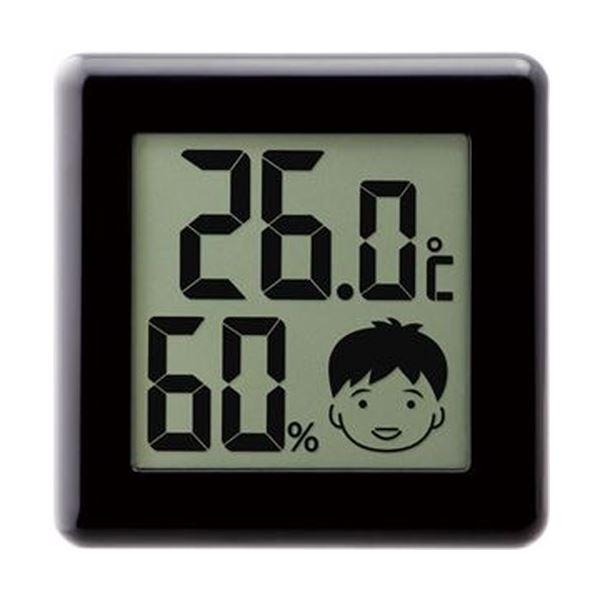 【送料無料】(まとめ)ドリテック デジタル温湿度計 ピッコラ ブラック O-282BK 1個【×10セット】