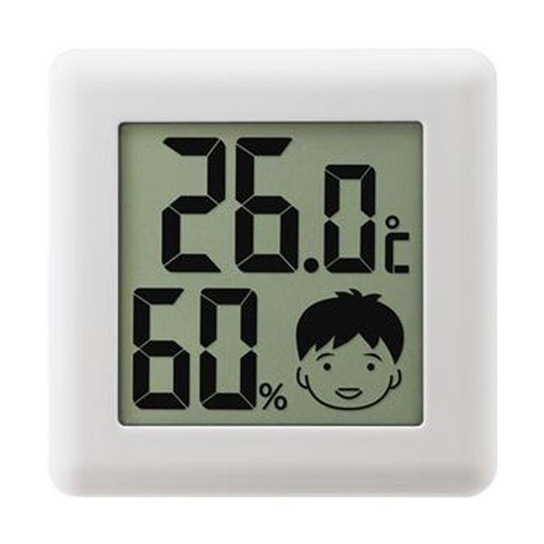 【送料無料】(まとめ)ドリテック デジタル温湿度計 ピッコラホワイト O-282WT 1個【×10セット】