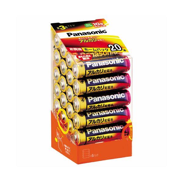 【送料無料】(まとめ) パナソニック アルカリ乾電池 単3形LR6XJ/20SH 1パック(20本) 【×10セット】