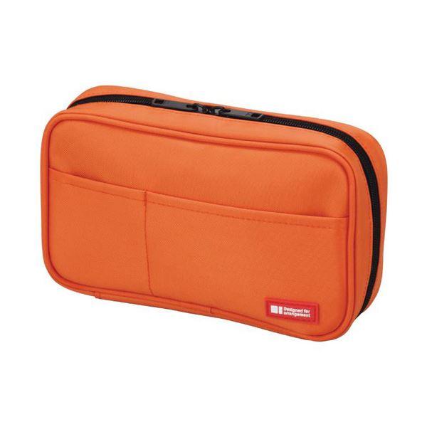【送料無料】(まとめ) リヒトラブ ペンケース(ブックタイプ)橙 A-7551-4 1個 【×10セット】