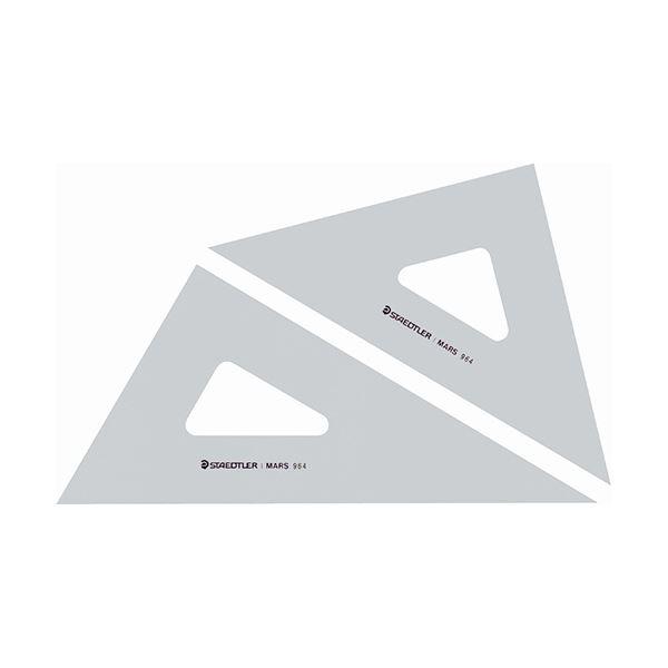 (まとめ) ステッドラー マルス 三角定規 30cm 45°・60°ペア 964 30 1組 【×10セット】