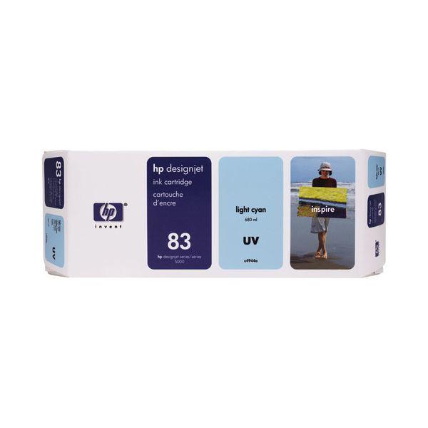 【送料無料】HP HP83 インクカートリッジUVライトシアン 顔料系 C4944A 1個