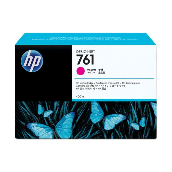 【送料無料】(まとめ) HP761 インクカートリッジ マゼンタ 400ml 染料系 CM993A 1個 【×10セット】