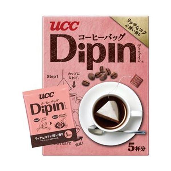 【送料無料】(まとめ)UCC コーヒーバッグ DipInリッチなコク&深い香り 8g 1セット(20袋:5袋×4箱)【×10セット】