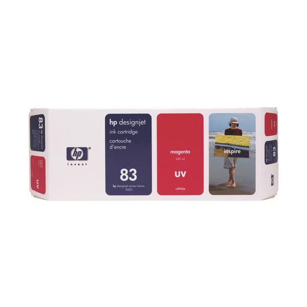 【送料無料】HP HP83 インクカートリッジUVマゼンタ 顔料系 C4942A 1個