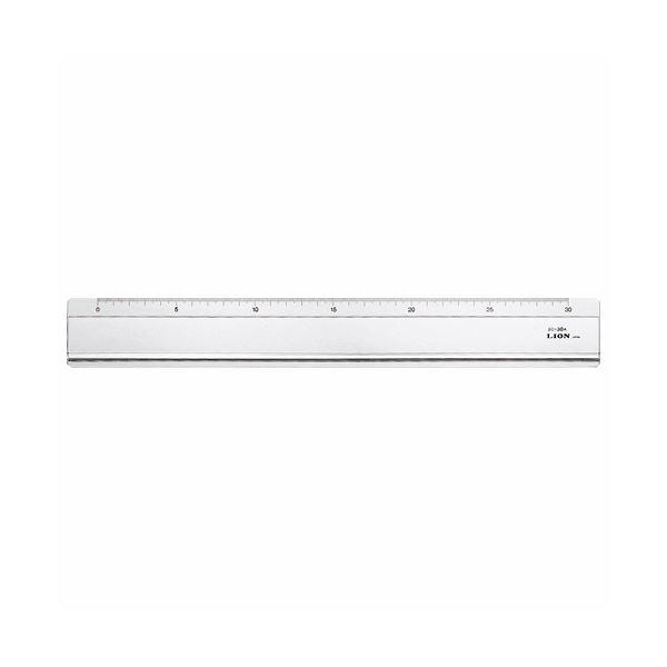 (まとめ) ライオン事務器 直線定規 30cmSC-30A 1本 【×10セット】