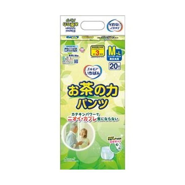 【送料無料】(まとめ)カミ商事 エルモア いちばんお茶の力パンツ M-L 1パック(20枚)【×10セット】