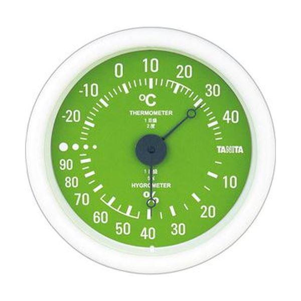 【送料無料】(まとめ)タニタ アナログ温湿度計 グリーンTT-515-GR 1個【×10セット】