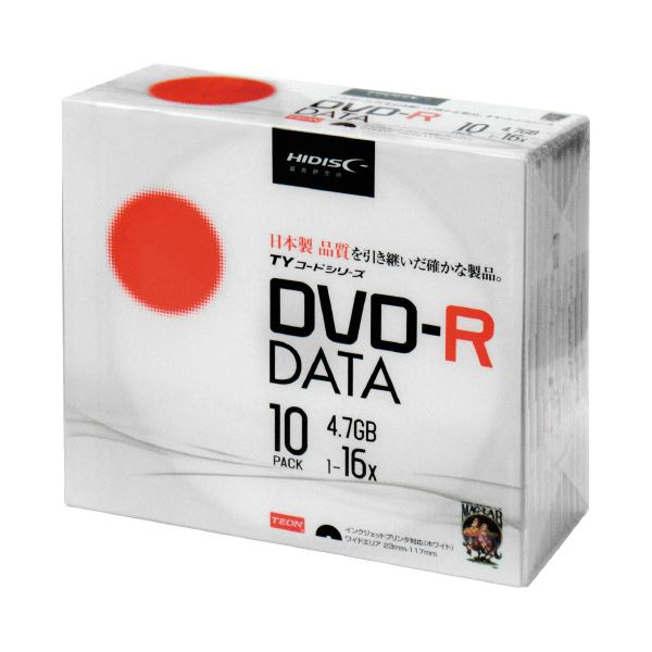 【送料無料】(まとめ)HIDISC DVD-R [4.7GB] TYDR47JNP10SC 10枚(×30セット)