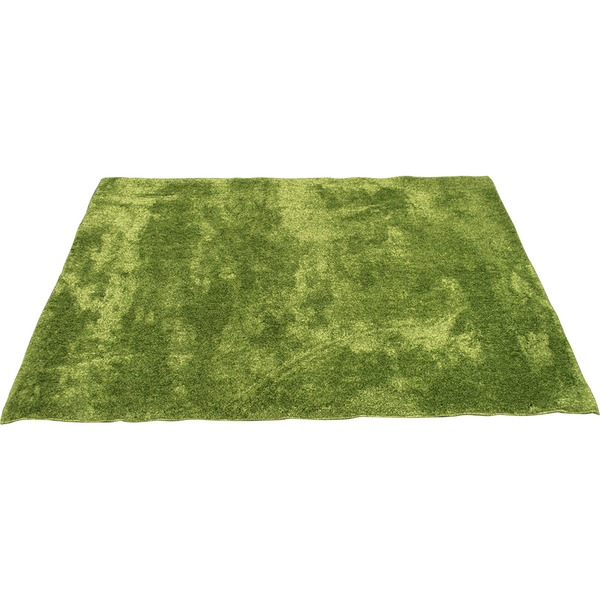 【送料無料】カーペット ラグ 敷物 室内 芝生ラグ 190×190cm グリーン オーシャン 九装