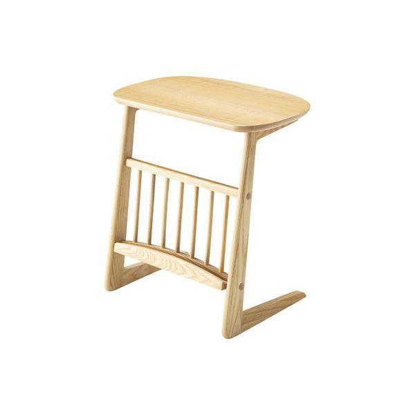 【送料無料】ワイド サイドテーブル/ミニテーブル 【ナチュラル 幅55cm】 木製 『ヘンリー』 〔リビング ダイニング ベッドルーム 寝室〕