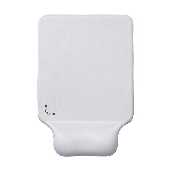 【送料無料】(まとめ) エレコム リストレスト付マウスパッドGEL ホワイト MP-GELWH 1枚 【×10セット】