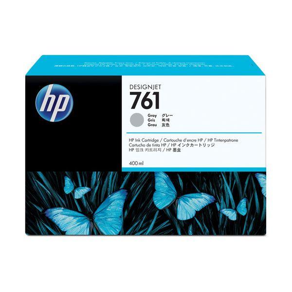 (まとめ) HP761 インクカートリッジ グレー 400ml 染料系 CM995A 1個 【×10セット】