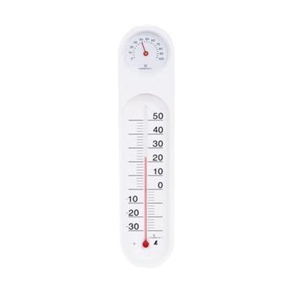 【送料無料】(まとめ)シンワ 温湿度計 PCオーバル48927 1個【×10セット】