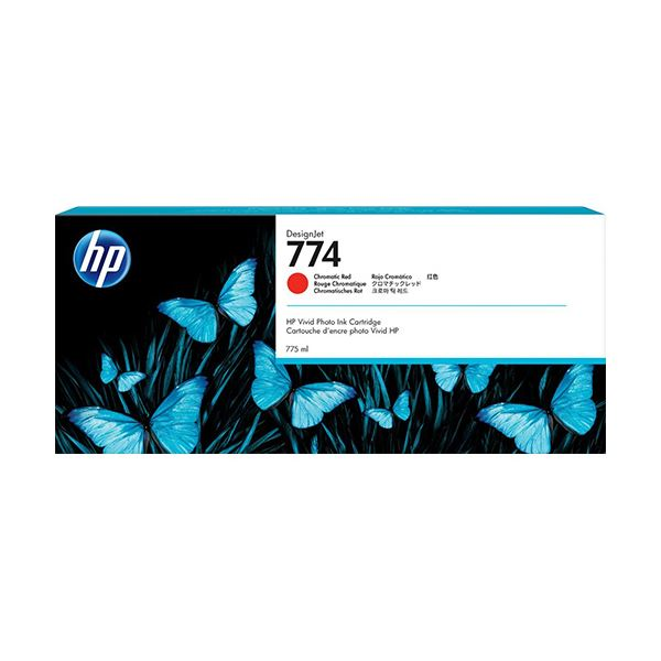 【送料無料】HP 774 インクカートリッジクロムレッド P2W02A 1個