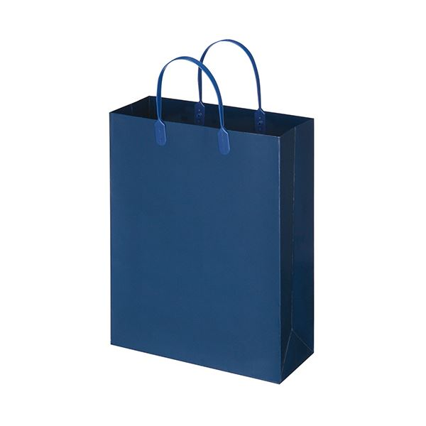 【送料無料】(まとめ) TANOSEE ラミネートバッグ 中縦タイプ 紺 1パック(10枚) 【×5セット】