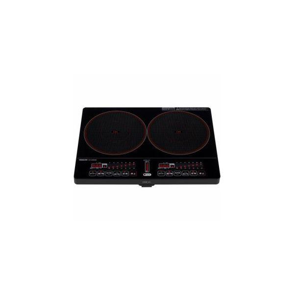 【送料無料】YAMAZEN 2口IH調理器 ブラック YEK-1456G