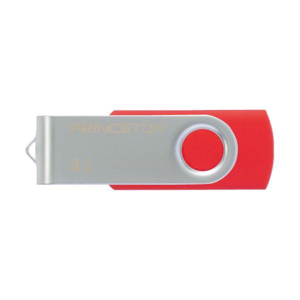 衝撃にも強い金属素材を使用 在庫あり 送料無料 まとめ プリンストン USBフラッシュメモリー回転式カバー 4GB PFU-T2KT 1個 業界No.1 4GRD レッド ×10セット