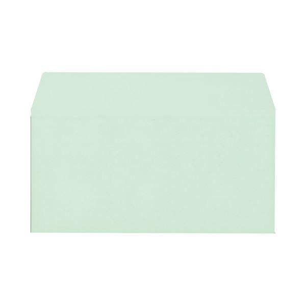 【送料無料】(まとめ) キングコーポレーション ソフトカラー封筒 のり付 洋0(洋長3) 100g/m2 グリーン 162028 1パック(100枚) 【×10セット】