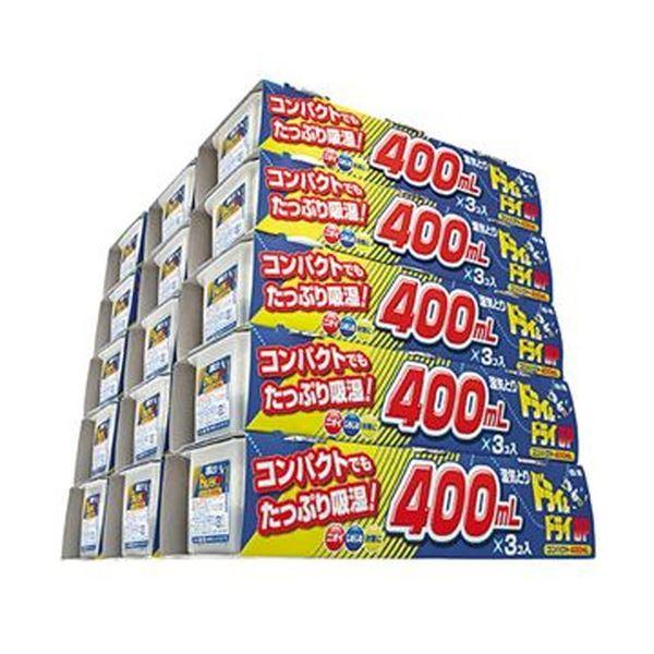 【送料無料】(まとめ)白元アース ドライ&ドライUP400ml 1セット(45個:3個×15パック)【×5セット】