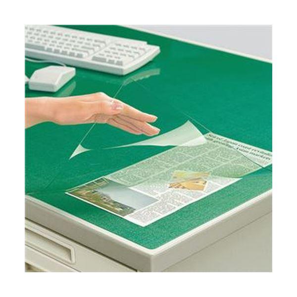 弾力性と透明性に優れた材質を使用 薄手タイプでも捺印のしやすさや筆記性は抜群 グリーンの下敷き付き 無料サンプルOK 送料無料 まとめ コクヨ デスクマット軟質 エコノミータイプ 下敷付 ダブル 1枚 6号 マ-1216Ng グリーン ×3セット 完売 1047×622mm