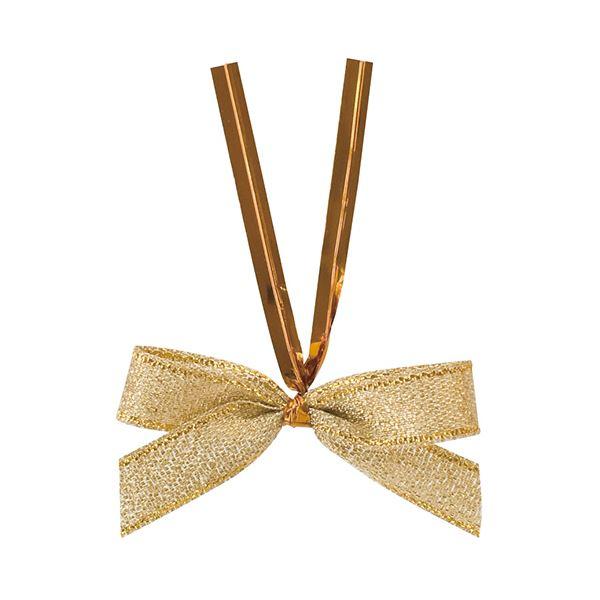 (まとめ) ヘッズ シャインリボンワイヤータイゴールド 小 GOL-YT2 1パック(50個) 【×10セット】