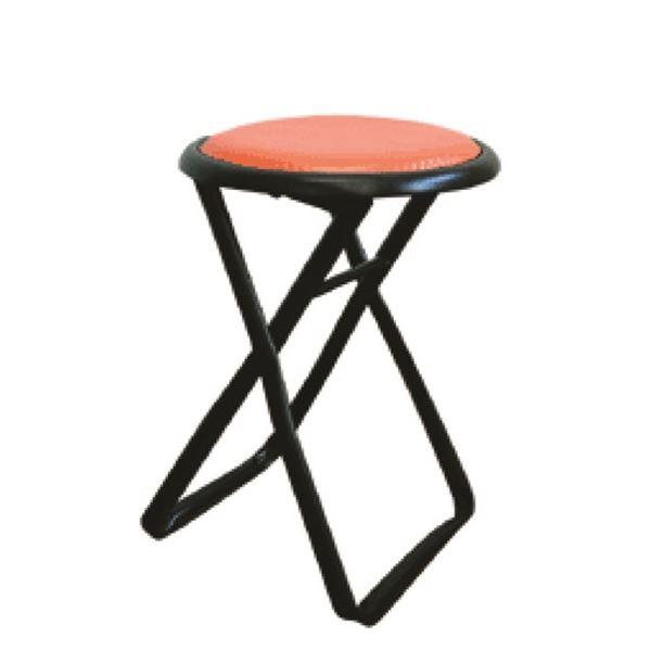 【送料無料】折りたたみ椅子 【6脚セット レッド×ブラック】 幅32cm 日本製 スチールパイプ 『キャプテンチェア』【代引不可】