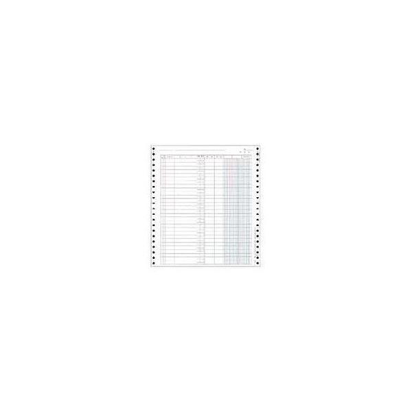 (まとめ)OBC バインダー元帳 Y10×T11連続用紙 3410 1箱(1000枚)【×3セット】
