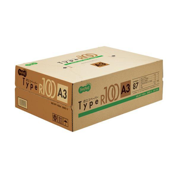 【送料無料】(まとめ) TANOSEE αエコペーパータイプR100 A3 1箱(1500枚:500枚×3冊) 【×5セット】