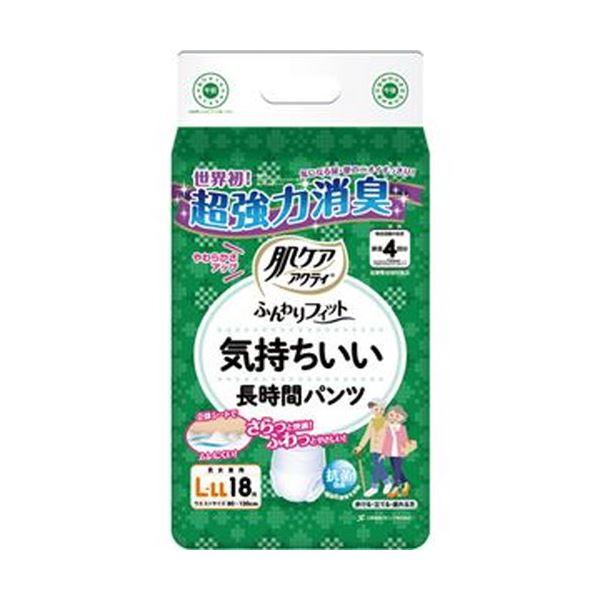 【送料無料】(まとめ)日本製紙 クレシア 肌ケアアクティふんわりフィット 気持ちいい長時間パンツ L-LL 1パック(18枚)【×10セット】